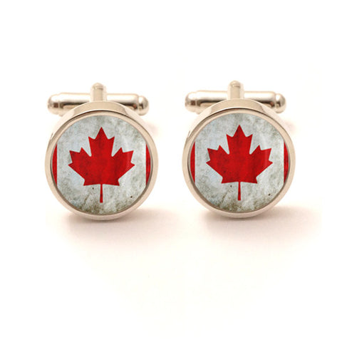 Vintage Style Canadian Flag Cufflinks