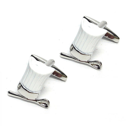 Chefs White Hat & Spoon Cufflinks