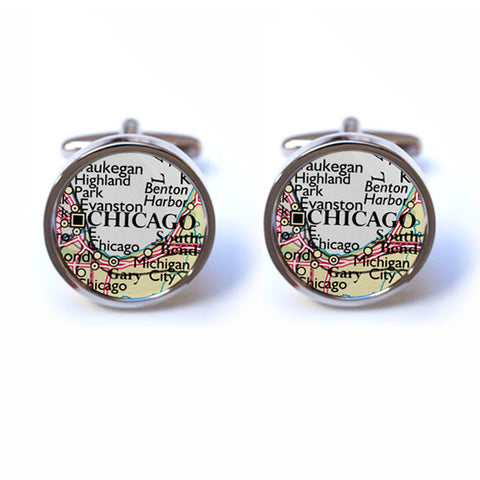 Chicago Map Cufflinks