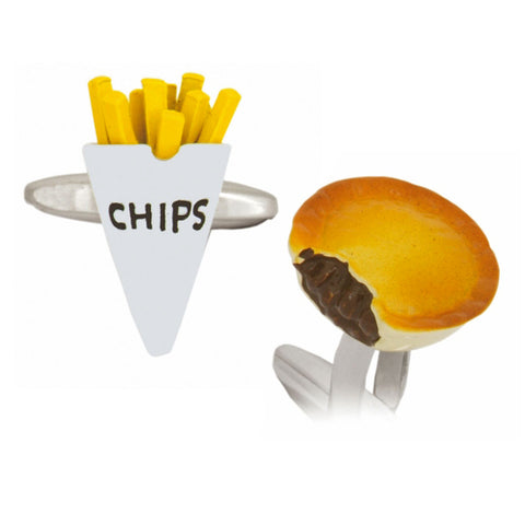 Pie and Chips Cufflinks