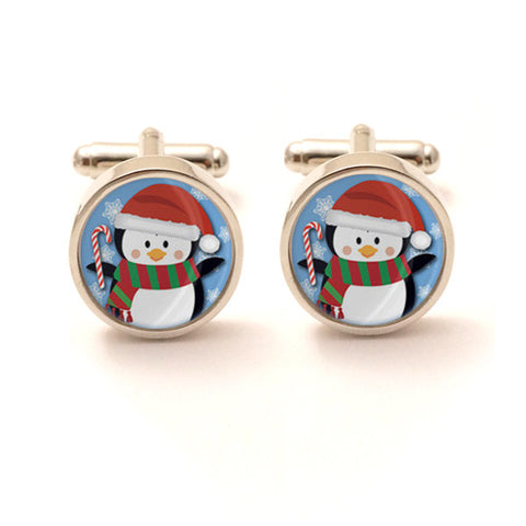 Christmas Penguin Cufflinks