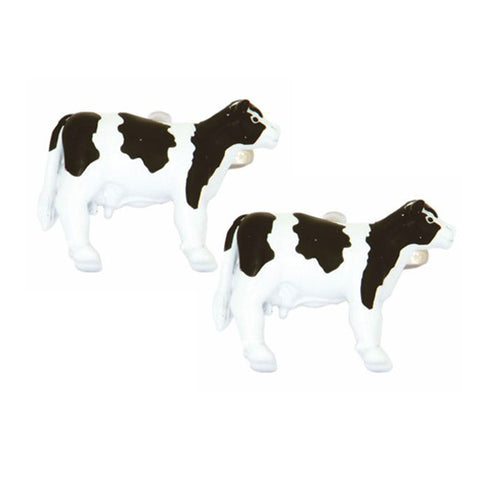 Black and White Cow Cufflinks