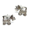 Crystal Scottie Dog Cufflinks