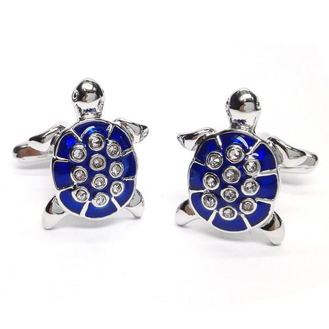Crystal Turtle Cufflinks