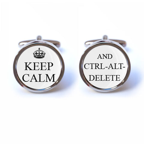 Keep Calm and Ctrl Alt Delete Cufflinks