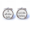 If All Else Fails - Ctrl Alt Delete Cuffflinks