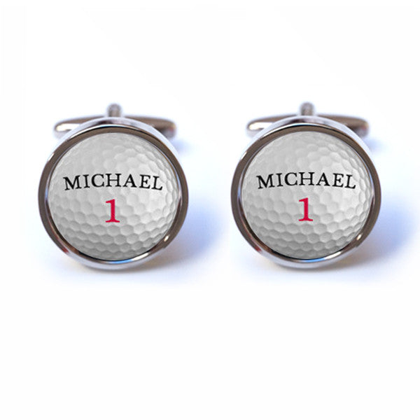 Personalised golf cufflinks for Golf buflings