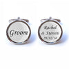 Personalised Groom Text Cufflinks