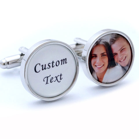 Custom Photograph and Message Cufflinks