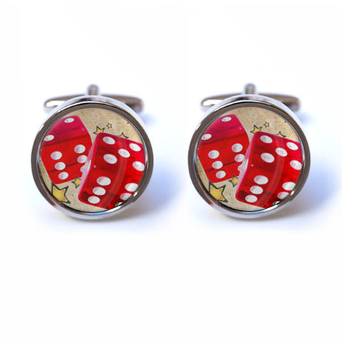 Gambling Dice Cufflinks