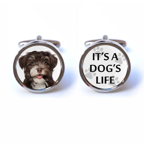 It's a Dog's Life - Custom Photo Cufflinks
