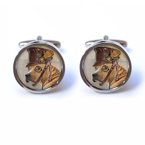 Dog Steampunk Cufflinks