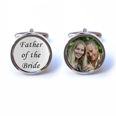 Father of the Bride - Custom Photo Cufflinks