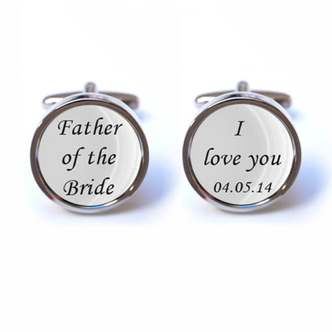 Father of the Bride - I love you cufflinks