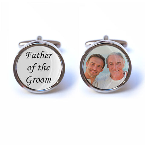 Father of the Groom Cufflinks with Custom Photo
