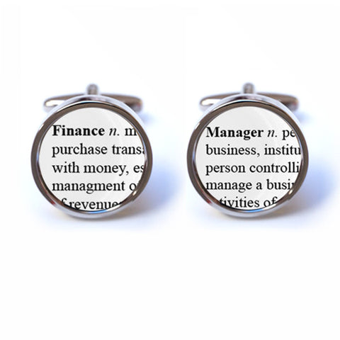 Finance Manager Word Definition Cufflinks