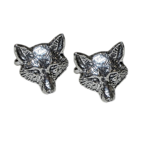 Pewter Fox Head Cufflinks