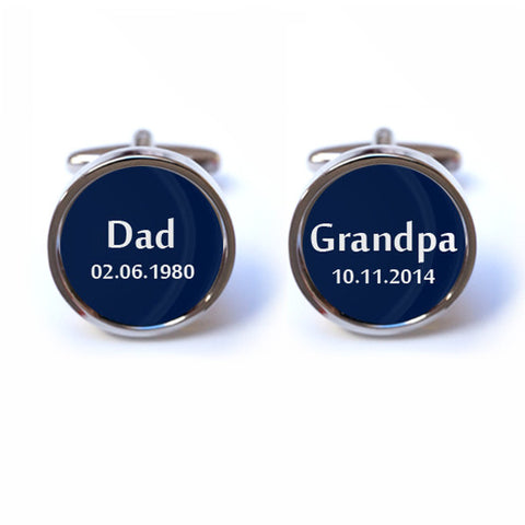 Personalised New Grandpa Cufflinks