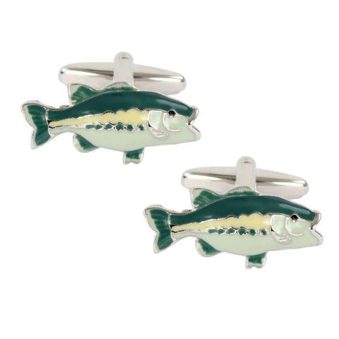 Green Fish Cufflinks