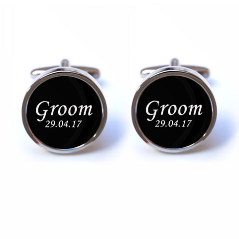 Wedding Cufflinks - Personalised Wedding Cufflinks