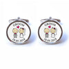 Personalised Groom Cufflinks with Illustration