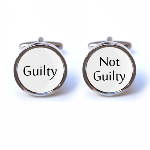 Guilty - Not Guilty Cufflinks