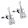 Silver Electric Guitar Cufflinks