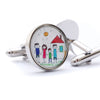 Custom Childrens Artwork cufflinks