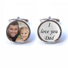 Custom Photograph - I love you Dad Cufflinks