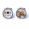 Custom Initials, Date and Photo Wedding Cufflinks