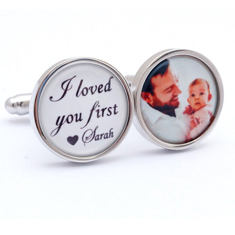 Personalised I Loved you First Cufflinks