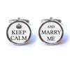 Keep Calm and Marry Me Cufflinks
