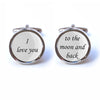 I love you to the moon and back Cufflinks