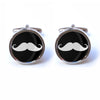 Black and White Moustache Cufflinks