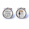 Today we become Mr and Mrs Wedding Cufflinks