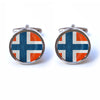 Norwegian Flag Cufflinks