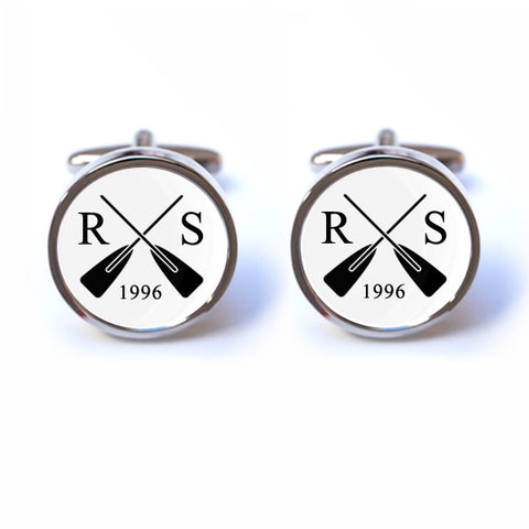 Personalised Rowing Cufflinks