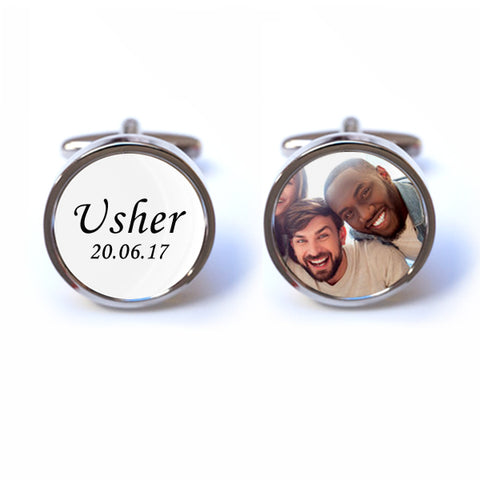 Personalised Usher Photo Cufflinks