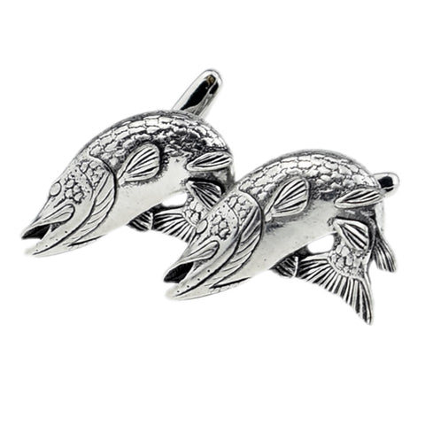 Turning Pike Fish Cufflinks