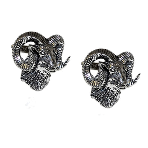 Mouflon Rams Head Cufflinks