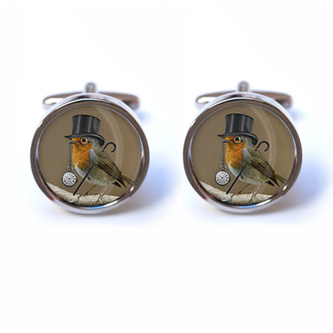 Steampunk Robin Cufflinks