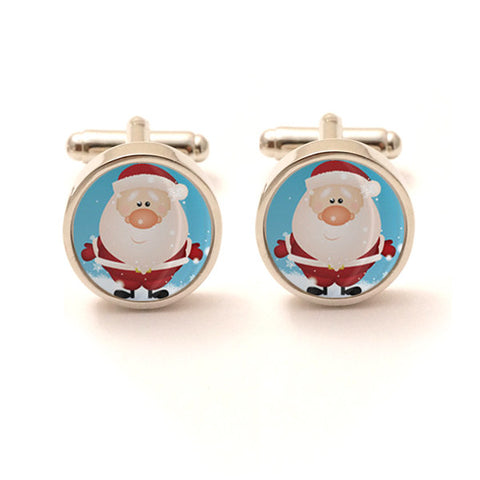 Santa Claus Christmas Cufflinks