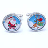 Santa and Rudolf Running Cufflinks
