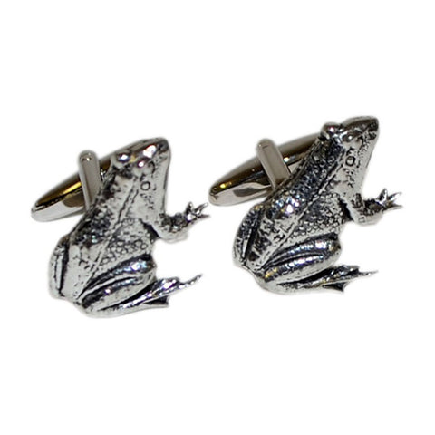 Pewter Frog Cufflinks
