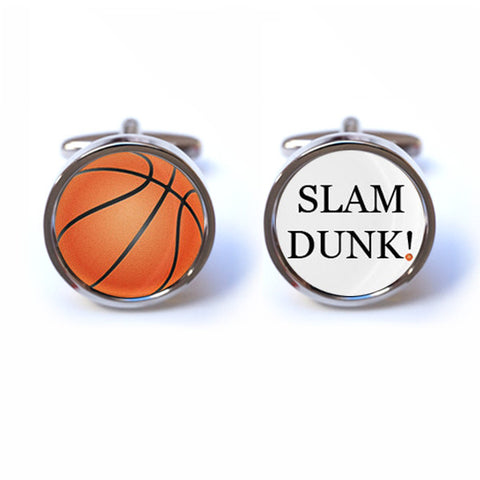 Slam Dunk Basketball Cufflinks