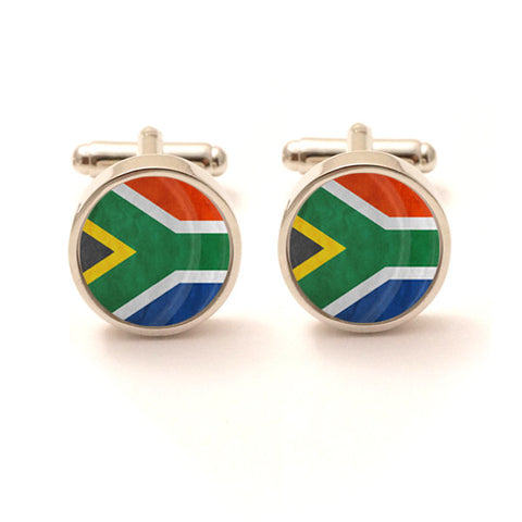 South African Flag Cufflinks