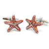 Orange Starfish Cufflinks