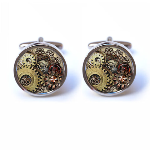 Steampunk Cog Cufflinks