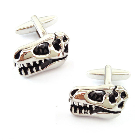 T Rex Skeleton Head Cufflinks
