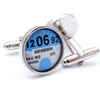 Personalised Car Tax Disc Cufflinks
